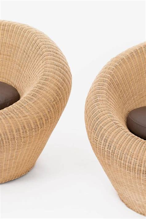 rattan chair by isamu kenmochi pair of isamu kenmochi rattan chairs at 1stdibs