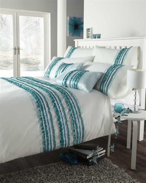 Turquoise And White Bedding Set Product Selections Homesfeed Bed Comforters Set