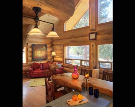 log cabin great room pictures california pioneer log home photos