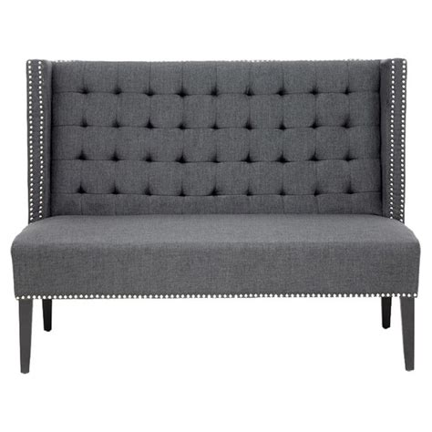 grey tufted bench tufted grey bench for the home pinterest