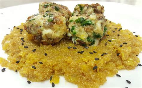amaranto ricette cucina amaranto allo zafferano con polpettine rustiche di pollo