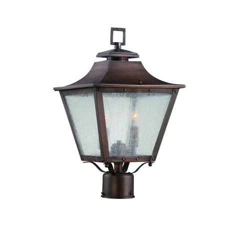 Copper Landscape Lighting Fixtures Acclaim Lighting Lafayette Collection 2 Light Copper Patina Outdoor Post Mount Light Fixture