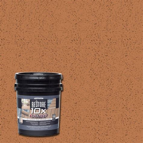 restore 10x colors rust oleum restore 4 gal 10x advanced cedartone deck and