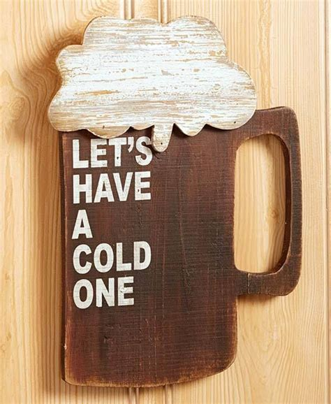 beer home decor 1 beer novelty wood wall sign rustic art man cave kitchen