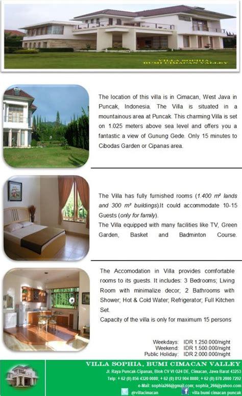 villa disewakan villa disewakan  cimacan puncak