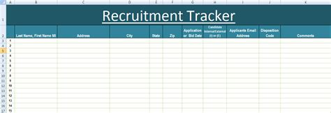 recruitment tracker excel template xls exceltemple