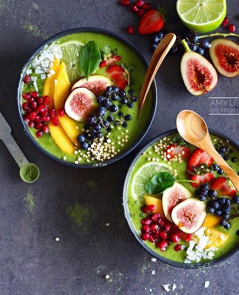 4 fruit blend smoothie green smoothie bowls by amylecreations makes the 2 small