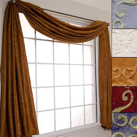 curtain scarf valance avani 216 quot scarf window valance for the home pinterest