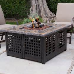 uniflame gas pit uniflame lp gas pit with handcrafted tile