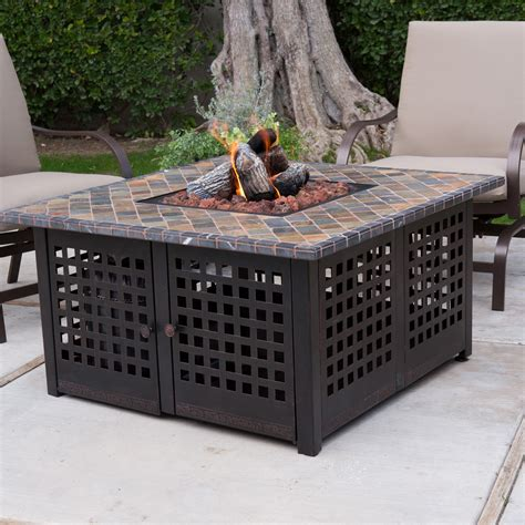 Uniflame Hand Crafted Tile Lp Gas Fire Pit With Free Cover Lp Gas Firepits