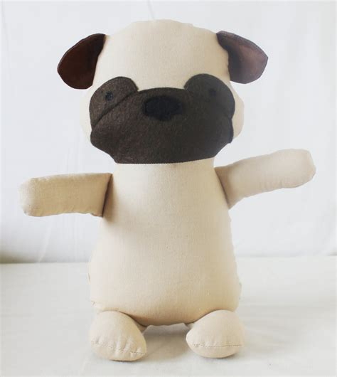 stuff for pugs pug sewing pattern puppy softie plush cloth doll