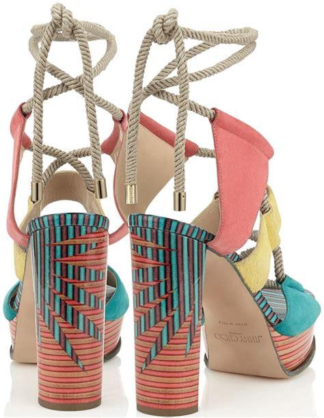 Jimmy Choo Jelissa 3102 Mcd multicolor jimmy choo halley rope platform sandals