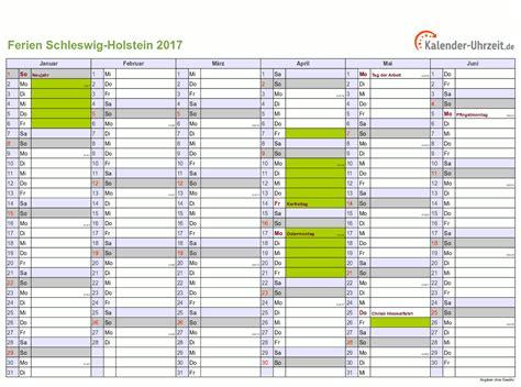 Kalender 2018 Sh Ferien Schleswig Holstein 2017 Ferienkalender Zum Ausdrucken