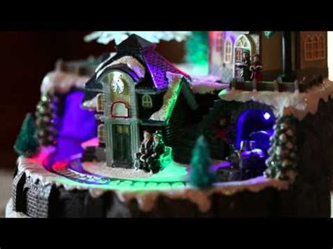 holiday memories lighted village and train music box lighted box sku 87960 plow hearth