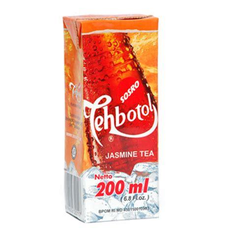 Teh Kotak Di Carrefour sosro teh botol kotak tp 200 ml belanja