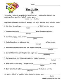 suffix worksheet ful have fun teaching