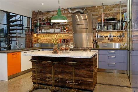 Kitchen Cabinets 2015 by 50 Trendy And Timeless Kitchens With Beautiful Brick Walls
