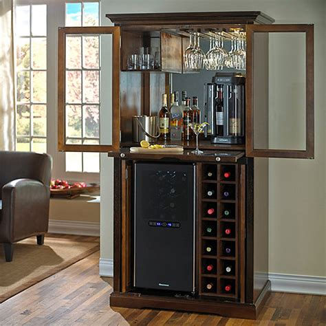 armoire refrigerator firenze wine and spirits armoire bar with 32 bottle