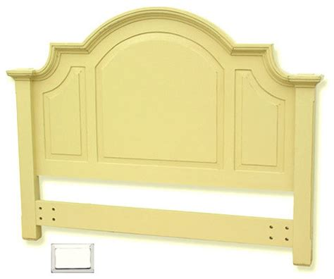 arched cottage headboard white queen traditional