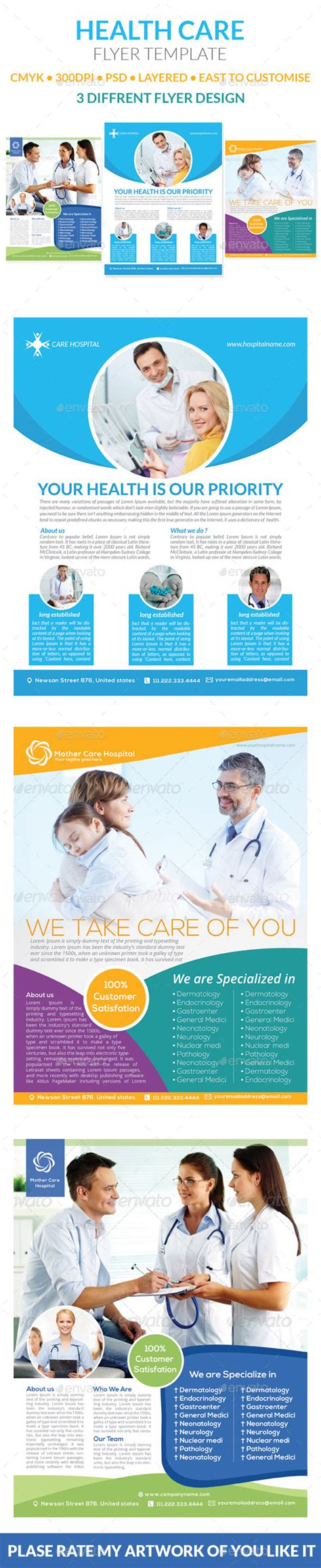 Health Care Flyer Templates By Graphicshint Graphicriver Health Care Flyer Template Free