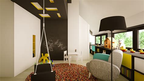 Contemporary Apartment Design by Modern Kids Playroom Design Interior Design Ideas
