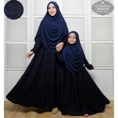 Nm1119 Busana Muslim Gamis Bergo Kid Ibu Anak Abu Makalina baju gamis ibu dan anak 2018 jaguar gamissyari net