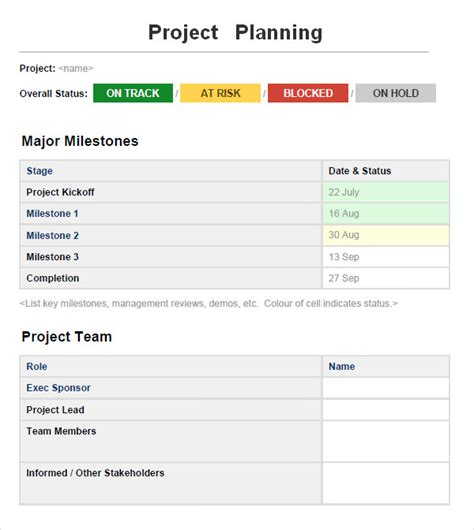 program planning template project planning template 5 free for word