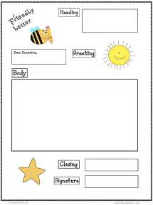 Business Letter Graphic Organizer Friendly Letter Printable First Grade Friendly Letter