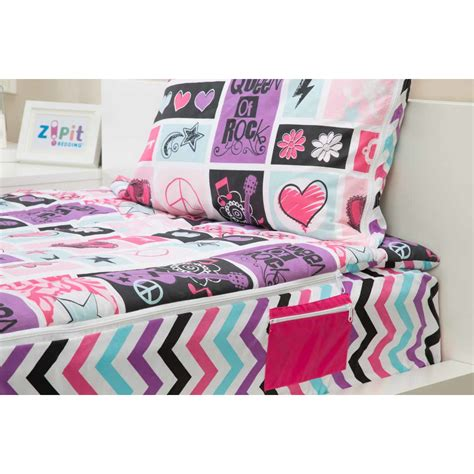 zip it bedding zipit bedding rocker princeess 3 piece reversible