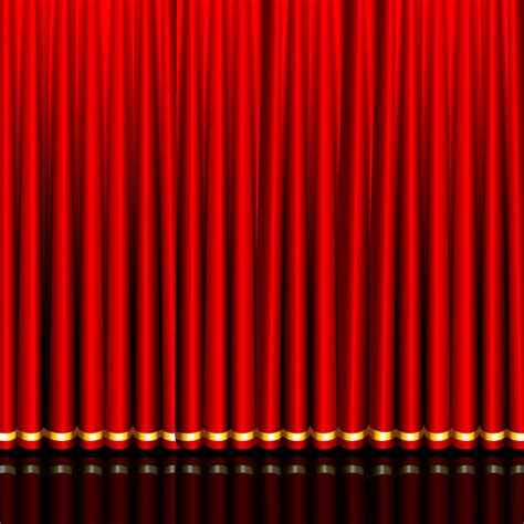 red curtains background red curtain elements vector background 03 vector