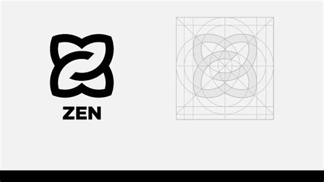 logo layout grid how i designed a logo in a grid system youtube