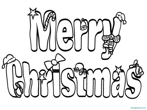 Merry Christmas Word Coloring Pages Coloring Pages For Kids Merry Words Coloring Pages