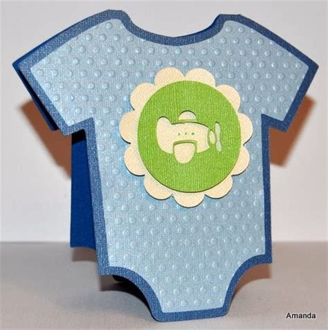 Cricut Baby Shower Cards by Amanda Sarver Baby Boy Onesie Shower Card With Airplane
