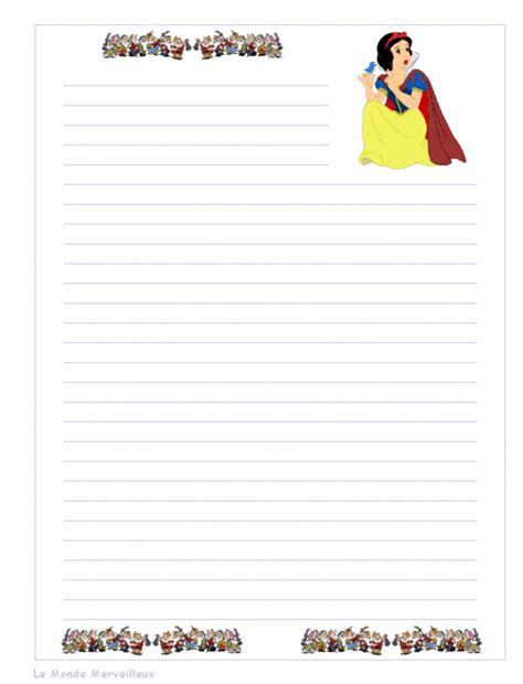 Papier 224 Lettre Disney