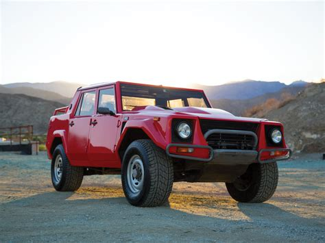 lamborghini jeep rare 1989 lamborghini lm002 suv at auction 95 octane