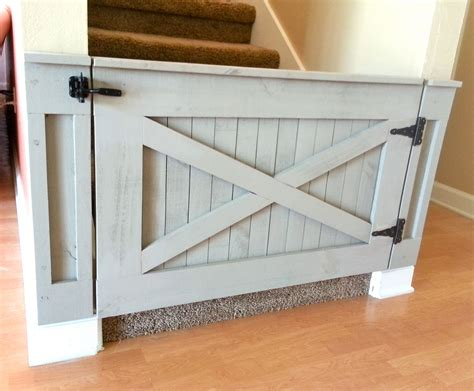 rustic baby gate barn door style w optional by