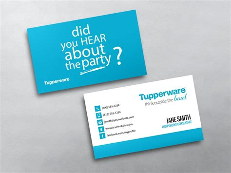 templates for mlm business tupperware business cards