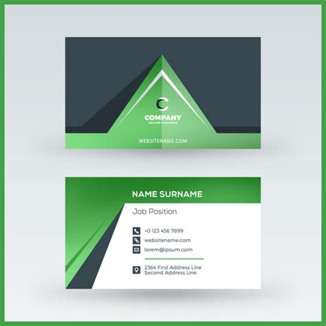 green business card template vector abstract green business card template vector 04 free