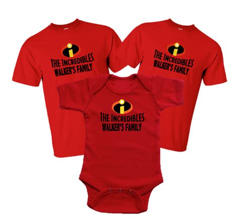 Tshirt The 2 disney family incredibles vacation family t shirts the