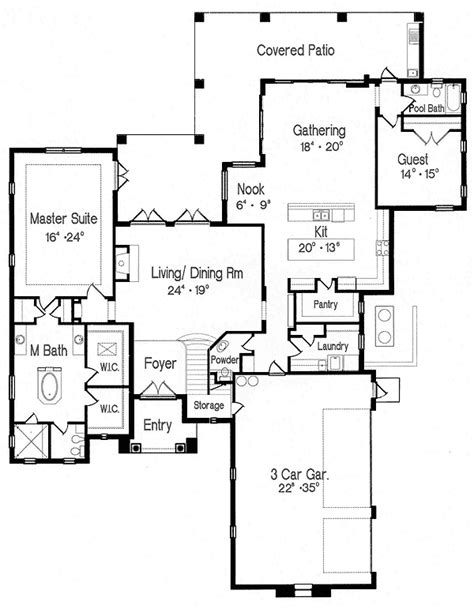 floor plan games second floor game room 4297mj architectural designs