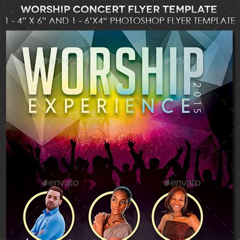 concert flyer template 25 flyer templates for worship events and church