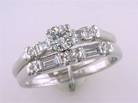 vintage antique deco 1 4ct platinum wedding