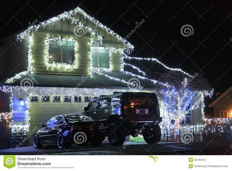 christmas illumination or christmas light light in residence editorial photography image of architecture