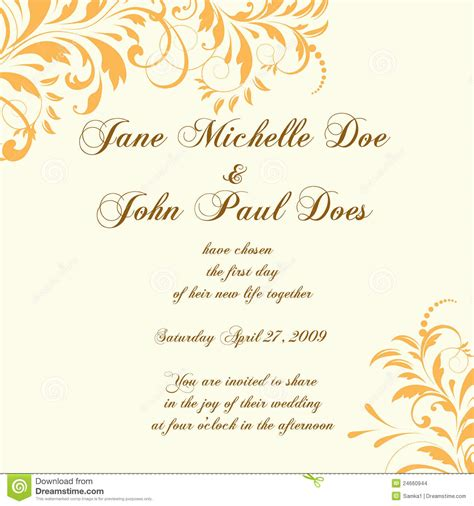 wedding card or invitation with abstract floral ba large