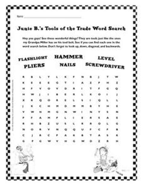 B Search Junie B S Tools Of The Trade Word Search 2nd 3rd Grade Worksheet Lesson Planet