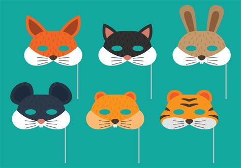 animal purim mask download free vector art stock