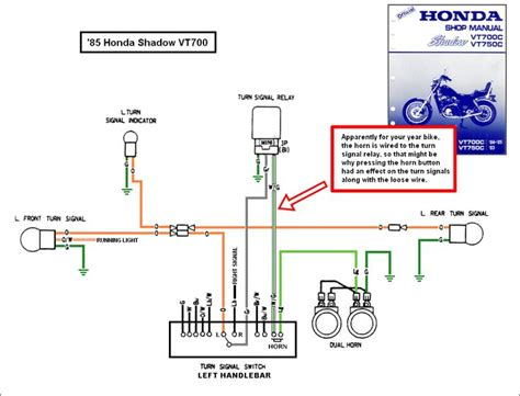 1988 honda shadow vt1100 turning signal wiring diagram