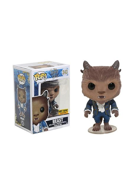 Funko Pop Vinyl Figure Topic Exclusive funko disney and the beast pop beast flocked vinyl figure topic exclusive topic
