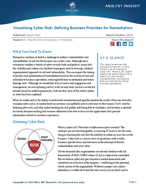 Cyber Security A Business Priority Visualizing Cyber Risk Defining Business Priorities For