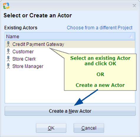 illustrate actor use interactions using use diagrams